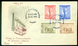 Turkey 1955 FDC Centenary Of Telecommunication Scott # 1167-1170 - 1921-... Republic