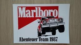 Aufkleber Mit Zigaretten-Werbung (MARLBORO-Abenteuer-Team 1987) Mit Geländewagen (Auto) - Aufkleber