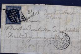 C26- 51/ Landry CàD De St Hilaire Du HarcoucK Mayenne Indice 21 Cote 600 Euros - 1849-1876: Periodo Classico