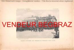 PARIS  OBSEQUES DE FELIX FAURE   PHOTO PAPIER CLICHE DE BESSON PHOTOTYPIE 1899 TOP RARE - Autres