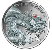 Yrear Of Dragon  2012. Various Monedas.  Silver.Original Box And Coa - Autres – Afrique