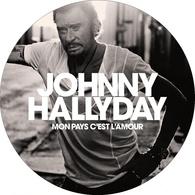 """Johnny Hallyday Feutrine Pour Platine Vinyle """"mon Pays C'est L'amour"""" - Formats Spéciaux"""