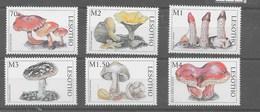 Serie De Lesotho Nº Yvert 1315/20 **  SETAS(MUSHROOMS) - Lesotho (1966-...)