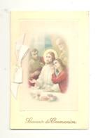Souvenir De Communion Avec Noeud, Ruban - 2 Volets, Format Carte Postale (581) - Communion