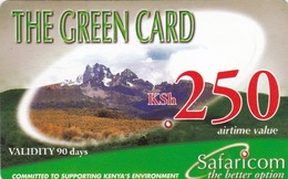 Kenya, KE-GRE-REF-0004?, KSh 250, The Green Card (Validity 90 Days), Expiry 2008/08/06, 2 Scans. - Kenya
