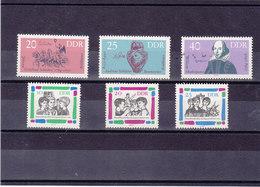 RDA 1964  Yvert 712-714  + 725-727 NEUF** MNH - [6] République Démocratique