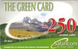 Kenya, KE-GRE-REF-0002_070915, KSh 250, The Green Card (Validity 30 Days), Expiry 2007/09/15, 2 Scans. - Kenya