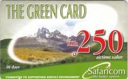 Kenya, KE-GRE-REF-0002_070720, KSh 250, The Green Card (Validity 30 Days), Expiry 2007/07/20, 2 Scans. - Kenya
