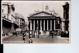 U3597 Small Postcard 1954 LONDON,  ROYAL EXCHANGE E BANK (banca, Banque) + Auto Cars Voitures - London