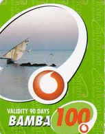 Kenya, Bamba 100, Special / Small Card, Boat, 2 Scans.    Expiry : 16-03-2011. - Kenia