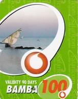 Kenya, Bamba 100, Special / Small Card, Boat, 2 Scans.    Expiry : 16-03-2011. - Kenya