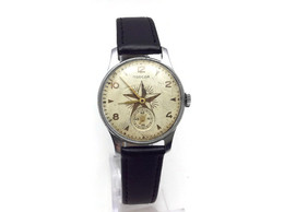 Rare POBEDA STAR Vintage Original Soviet USSR 1950s Mechanical Military Mens Wrist Watch Pobeda Victory Star 1MChZ. - Watches: Old