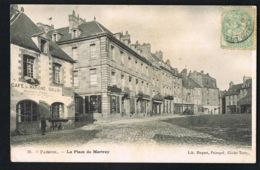 PAIMPOL  -CPA La Place Du Martray- Café Du Marché  Guillou- Voyagée 1906- Recto Verso - Paypal Sans Frais - Paimpol