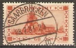 Saar - 1930 Views 60c Orange Used   SG 114a - Used Stamps