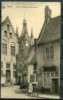 "CPA S/w Gezähnte AK Belgien Ypres/Ieper 1915 Allemagne Feldpost""Ypres-Place Du Musee Et Conciergerie ,belebt"" 1 AK Used - Ieper"