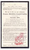 DP EZ Florentia Gios - Zr. Cajetana ° Noorderwijk Herentals 1887 † Klooster Huldenberg 1933 / Olen - Images Religieuses