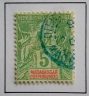 1896 - France (ex-colonies & Protectorats MADAGASCAR Y&T 31 Type Groupe Oblitération DIEGO SUAREZ Cachet Bleu - Madagascar (1889-1960)