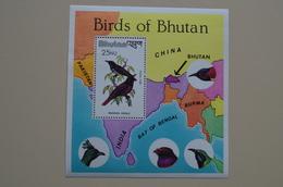 Bhutan S/S MNH Birds Oiseau Oriole Bird - Songbirds & Tree Dwellers