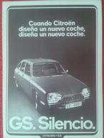 SPAIN. RECORTE DE PRENSA REVISTA O PERIÓDICO PUBLICIDAD COCHE CITROËN GS TIBURÓN ? SAPO ? CAR AUTOMÓVIL ADVERTISING AUTO - Publicidad