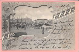 Libau Lettonie Stadtbrücke Timbres Et Cachets Russe Au Dos - Lettland