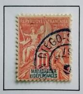 1900 - France (ex-colonies & Protectorats MADAGASCAR   Y&T 43 Type Groupe Oblitération DIEGO SUAREZ - Madagascar (1889-1960)