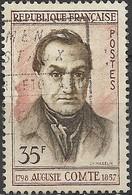 FRANCE 1957 Death Centenary Of Auguste Comte (philosopher) - 35f Auguste Comte FU - France