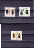 RDA 1966 COSTUMES II Yvert 913A +915A + 917A SE TENANT NEUF** MNH - [6] République Démocratique