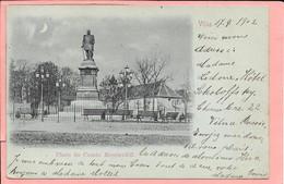 Lituanie Vilna - Place Du Comte Mouravièff Timbre Et Cachet Russe Au Dos - Lithuania