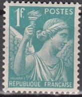 France 1944 Yvert 650 Neuf ** Cote (2012) 0.15 Euro Type Iris - France