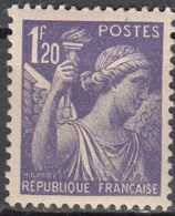 France 1944 Yvert 651 Neuf ** Cote (2012) 0.15 Euro Type Iris - France