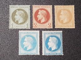 Napoléon III Lauré N° 25/26/28A/29A/29B  Neuf Sans Gomme à -12% De La Cote  TB - 1863-1870 Napoléon III Lauré