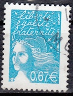 France 2002 Yvert 3453 O Cote (2012) 1.25 Euro Marianne Du 14 Juillet Cachet Rond - France