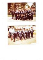 Lot De 2 - 21 AUXONNE -  Juillet 1984 - Photographie Sapeurs POMPIERS Enfants Uniforme Médaille - Pompiers
