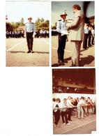 Lot De 3 - 21 AUXONNE -  1984 - Photographie  POMPIERS   Uniforme Casque Remise Coupe - STRASBOURG - Pompiers