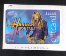 HANNAH MONTANA  GIFT CARD - Gift Cards