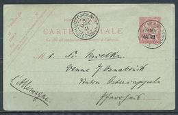 1911 CHINA POSTAL CARD FRANCE OFFICES 4 CENTS CHEFOO TO GERMANY - Chine