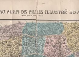 Paris : Nouveau Plan De Paris Illustré 1877 (PPP15932) - Maps