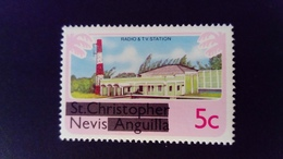 Nevis 1980 Radio Television Timbre De St Christophe Nevis Anguilla Surchargé Overprint Yvert 30 ** MNH - St.Christopher, Nevis En Anguilla (...-1980)