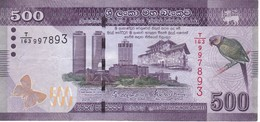 BILLETE DE SRY LANKA DE 500 RUPEES DEL AÑO 2016  (BANKNOTE) - Sri Lanka