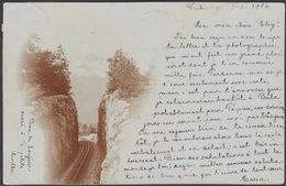 Tranchée De Chemin De Fer, Fribourg, 1906 - Foto CPA - FR Fribourg