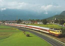 Deutschland Germany Elektro-Schnellzug Lok 113 311-5 Strecke Garmisch-Murnau-München - Eisenbahnen