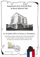 Berck 1993 - Feuillet Inauguration De La Nouvelle Poste - Marcophilie (Lettres)