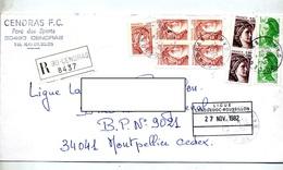 Lettre Recommandee  Centras Sur Marianne Gandon Sabine - Marcophilie (Lettres)
