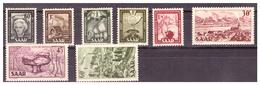SAAR/SARRE - 1951 - TIPI DEL 1949/50 E NUOVI TIPI. SERIE COMPLETA. GOMMA BICOLORE -  MH* - 1947-56 Occupazione Alleata