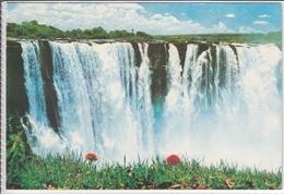 ZIMBABWE  MAIN WATER FALL  VICTORIA FALLS  USED PAIR OF NICE STAMP - Zimbabwe