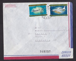 Colombia: Registered Airmail Cover To Germany, 1967, 2 Stamps, Boeing, Douglas DC4, Airplane (traces Of Use) - Colombia