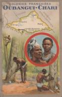 V29- OUBANGUI - CHARI - COLONIES  FRANCAISES - EDITION DU LION NOIR  - (2 SCANS) - Central African Republic