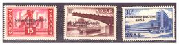 SAAR/SARRE - 1955 - REFERENDUM POPOLARE PER LA SARRE. SERIE COMPLETA. -  MNH** - 1947-56 Occupazione Alleata