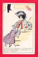Pub-303Ph99  Illust Lucien Robert, MAGGI, Il M'a Promis Une Surprise, Si Cela Pouvait être Des Potages - Werbepostkarten