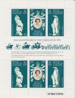 British Antarctic Territory (BAT) 1978 25th. Ann. Of The Coronation M/s ** Mnh (41256) - Brits Antarctisch Territorium  (BAT)